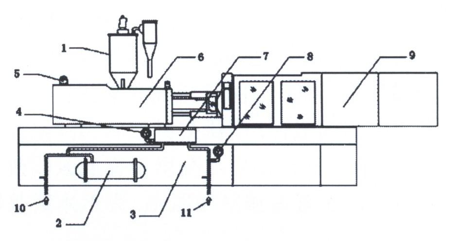本实用新型涉及一种注塑机水压,气压报警装置,包括机座,所述的机